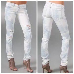 J Brand Pencil Leg Slim Thrasher Distressed Jeans